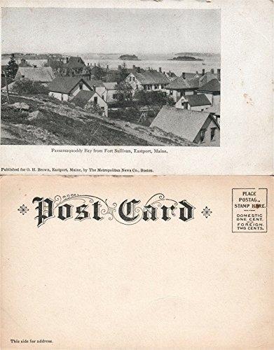EASTPORT ME PASSAMAQUODDY BAY FROM PORT SULLIVAN ANTIQUE UNDIVIDED POSTCARD