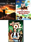 Wizard Chitty Fiddler Triple Feature Musicals Chitty Chitty Bang Bang DVD Fiddler on The Roof & The Wizard of OZ Movie Bundle