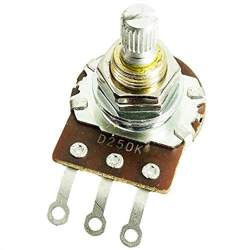 "o Long Life SHORT (3/8"" bushing) Split Shaft Audio Taper Pot / Potentiometer ()"