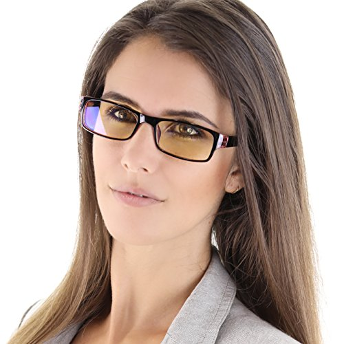 Salviso Blue Blocker Glasses - Blue Light Blocking Computer Glasses for Reducing Eye Strain and Eye Fatigue and Promoting Better Sleep - - Model: NEW, Slim - Strain Eye Glasses Reducing