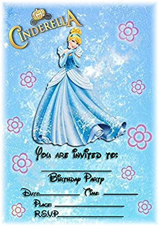 Disney princess cinderella birthday party invites floral portrait disney princess cinderella birthday party invites floral portrait design party decorations accessories filmwisefo