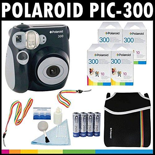 Polaroid PIC-300 Instant Film Analog Camera (Black) with ...