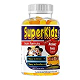 Kids Brain Focus & Memory Support Gummies Formula, Great Taste Brain Supplements for Kids, Children & Teens with Omega 3 6 9, DHA EPA, Supports Mental Focus, Concentration, and Attention