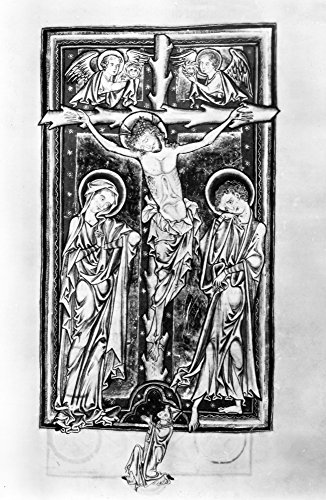 Crucifixion Of Christ Nillumination From The Psalter Executed About 1250 For An Abbot Of The Benedictine Abbey Of Evesham In Worcestershire England The Abbot Is Shown Kneeling At The Foot Of The Cross