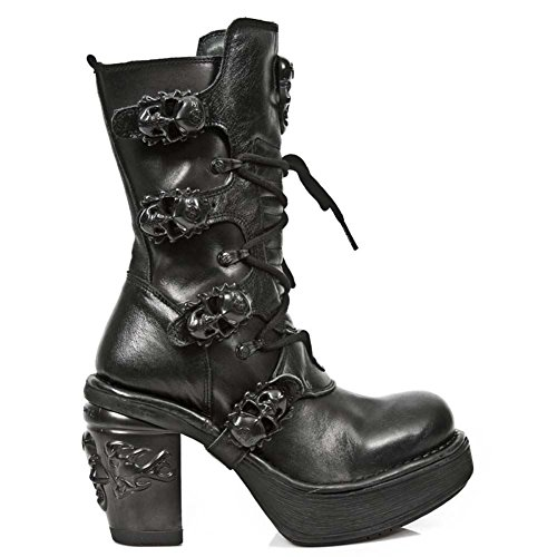 New Rock Black Leather M.8366 S8 Skull Women Oxido Militar Season-Stock Women Nrk Women
