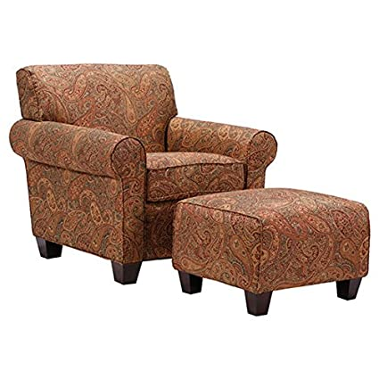 Charmant Portfolio Mira 8  Way Hand Tied Paisley Arm Chair And Ottoman