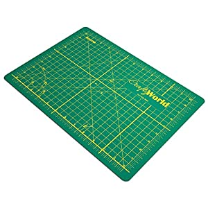 """Crafty World Professional Self-Healing Double Sided Rotary Cutting Mat, Long Lasting Thick Non-Slip Mat 18"""" x 24"""", 12"""" x 18"""", and 9"""" x 12"""" for Quilting, Sewing and All Arts & Crafts Projects"""