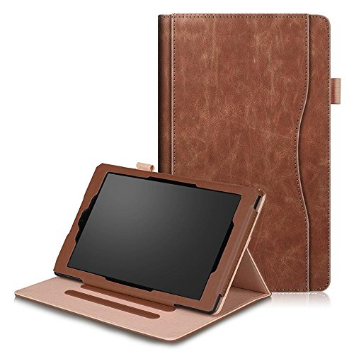 Case for Fire HD 10 Tablet,Kindle Fire HD 10 Case 2017,Premium PU Leather Smart Case and Back Cover Flip Folio Case for Amazon Fire HD10 - Covers Fire Durable Kindle