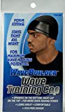 WaveBuilder Wave Training Cap | Form Fitting Spandex for Maximum Wave Making Potential, Black