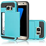 Appliances Packages Samsung Best Deals - Samsung Galaxy S4 Case,Inspirationc® Dual-Layer Hybrid Armor Wallet Case for Samsung Galaxy S4 i9500--Blue