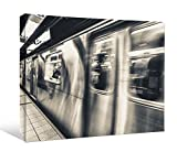 JP London DDCNV2400 Ready to Hang Feature Wall Art 2'' Thick Heavyweight Gallery Wrap Canvas Subway Blast Metal Underground At 60'' Wide by 40'' High