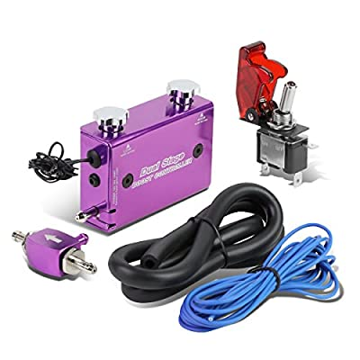 Dual Stage Turbocharger Boost Electronic Controller Kit + Rocket Switch (Purple): Automotive