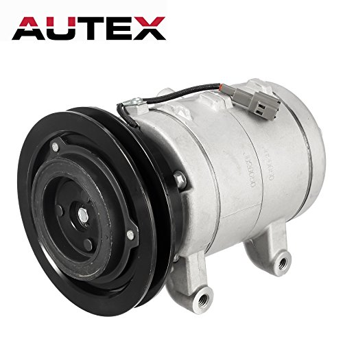 AUTEX AC Compressor and A/C Clutch CO 2511C TEM274408 Replacement for Nissan 720 1986 2.0L 2.4L 2.5L, compatible with Nissan Pathfinder 1987 1988 2.4L, compatible with Nissan Pickup 1995 1996 97 2.4L ()