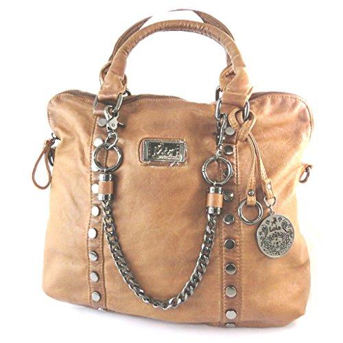 Bolsa de diseñador 'Lois Jean'marrón de la vendimia - 44x28x13.5 cm.