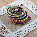 Pyrsun(TM) 1lot=5pc Weave Rubber Hair Band Bracelet Gum For Hair Kids Hair Accessories Women Accessories Lady Headband