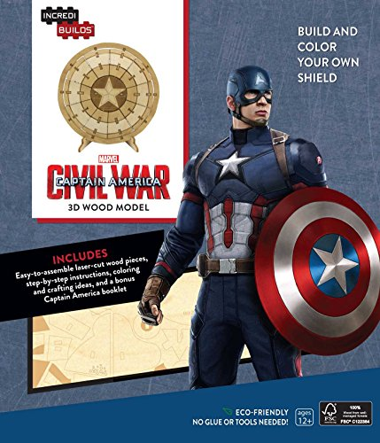 IncrediBuilds: Marvel: Captain America 3D Wood Model