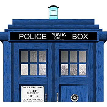 Doctor Who Tardis Headboard Repositionable Wall Graphic Decal Sticker    Gift   Sci Fi   TV   Whovian