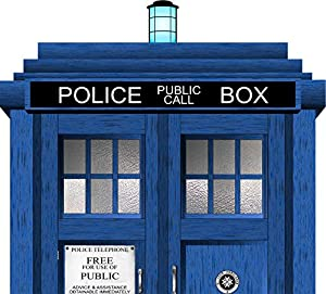 Doctor Who Tardis Headboard Repositionable Wall Graphic Decal Sticker -  Gift - Sci-Fi - TV - Whovian
