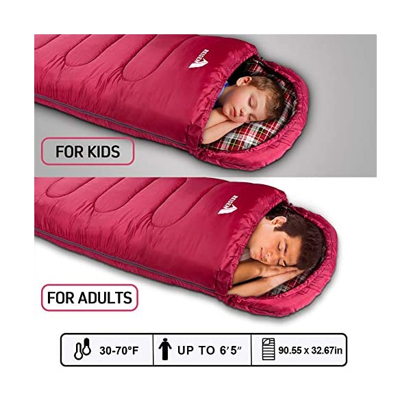 Reisen Warm & Cold Weather Sleeping Bag, 0 Degree Celsius Lightweight Sleeping Bags for Adults/Youth, Great for 3-4 Season Backpacking/Camping/Hiking (30°F-50°F) ... 4