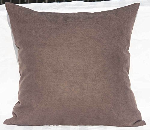 TangDepot Solid Wool-like Throw Pillow Cover/Euro Sham/Cushion Sham, Super Luxury Soft Pillow Cases - Handmade - Many Colors & Sizes Avaliable - (26