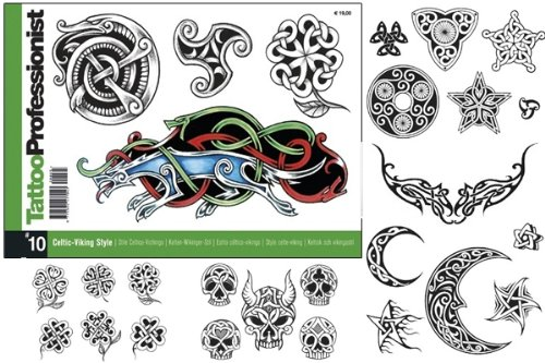 Tattoo Professionist #10 Celtic-Viking Style Tattoos 84-Page Flash Book by WorldWide Tattoo Supply (Image #1)