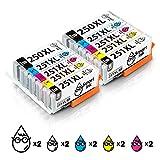 Smart Ink Compatible Ink Cartridge Canon PGI 250 XL PGI-250XL CLI 251 XL CLI-251XL 10Pack 2PGBK&2BK/C/M/Y for PIXMA MX922 722 MG5420 5422 5520 5522 5620 6420 6620 7520 6320 7120 IP7220 8720 IX6820