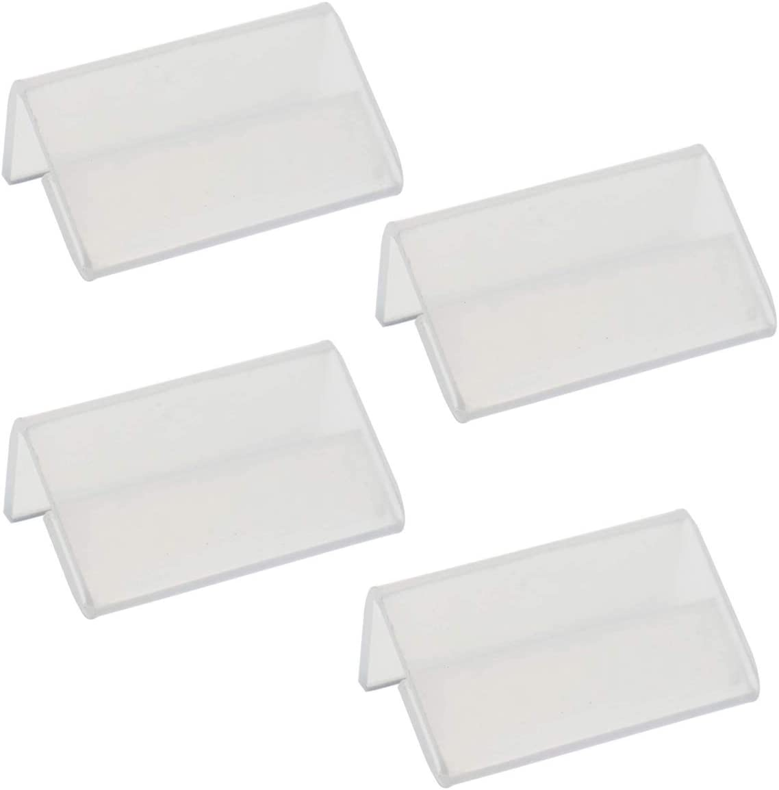 15 Pieces L Shape Mini Sign Display Holder Acrylic L Shape Counter Top Stand Clear Acrylic Price Card Tag Label Stand Display 4x2cm
