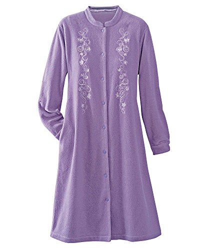 National Microfleece House Coat, Pansy, Large