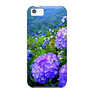 New Arrival Covers Cases With Nice Design For Iphone 5c- Hydrangea Garden