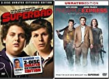 Judd Apatow 2-Movie Collection - Pineapple Express (Unrated Edition) & Superbad (2-Disc Unrated Extended Edition) Double Feature Movie Bundle