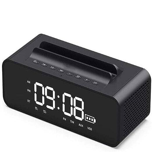 Reloj despertador Altavoz Bluetooth Radio cargador USB y ...