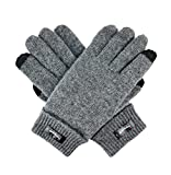 Bruceriver Ladie's Wool Knit Gloves with Thinsulate Lining Size L (Grey Touchscreen)