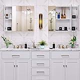 HOMFA Bathroom Wall Mirror Cabinet, 27.6 inches