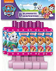 Unique Nickelodeon Girl Paw Patrol Party Blowers, 8 Count