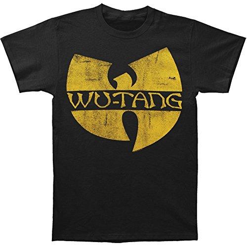 Wu Tang Clan Men's Classic Yellow Logo T-shirt Black