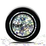Paint Glow Chunky Glitter Flakes Sparkle Festival Face Hair CHGR08 Mystic Mermaid