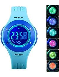 Kids Watch Boys Girls Sport Outdoor LED Alarm Stopwatch...