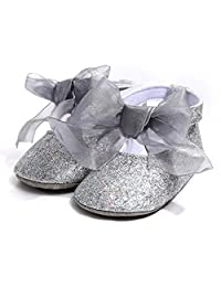 Binmer Baby Girl Princess Shoes,Bandage Toddler Sequins First Walkers Shoes