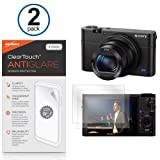 Sony DSC-RX100M3 Screen Protector, BoxWave® [ClearTouch Anti-Glare (2-Pack)] Anti-Fingerprint Matte Film Skin for Sony DSC-RX100M3