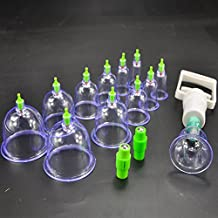 KLY -1 Set Chinese Great Medical Body Healthy Care 12 Cups Kit Cupping Therapy(ENGLISH MANUAL)
