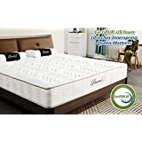 BAOSHILAI RucasMemory Cotton Spring Mattress, 10-inch Memory Foam Mattress, 10 Year Warranty.CertiPUR-US Certified Adaptive Foam Mattress Queen