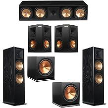 Klipsch 5.2 Black Ash System with 2 RF-7 III Floorstanding Speakers, 1 RC-64 III Center Speaker, 2 Klipsch RP-250S Surround Speakers, 2 Klipsch R-115SW Subwoofers