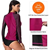 CharmLeaks Women's Long Sleeve Rashguard UPF 50 Sun
