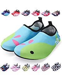 Kids Water Shoes Toddler Swim Shoes Quick Dry Non-Slip Barefoot Aqua Socks for Beach Pool
