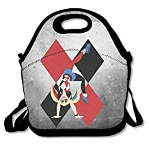 Bakeiy Harley Quinn Poster Lunch Tote Bag Lunch Box Neoprene Tote For Kids And Adults For Travel And Picnic School