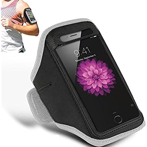 SAMSUNG GALAXY S7 - Adjustable Armband Gym Running Jogging Sports Case Cover Holder + Polishing Cloth ( White ) Sales