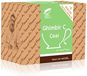 Ginger Tea with vitamin C, vitality and immunity natural remedy, 25 tea bags x