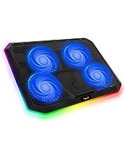 havit RGB HV-F2076 Koelpad voor laptop met 2 USB-poorten, DC 5V-interface, 4 ventilatoren en RGB-achtergrondverlichting