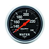 """Auto Meter 3433 2-5/8"""" Mechanical Water Temperature Gauge with 12' Tubing"""