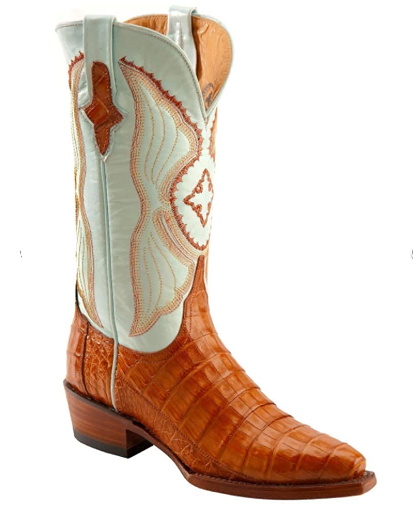 - Ferrini Cowboy Lady Honey Caiman Boots